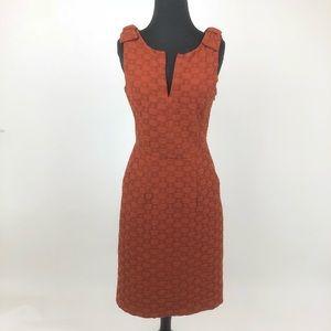Anthropologie Sz 4 Tabitha Burnt Orange Dress